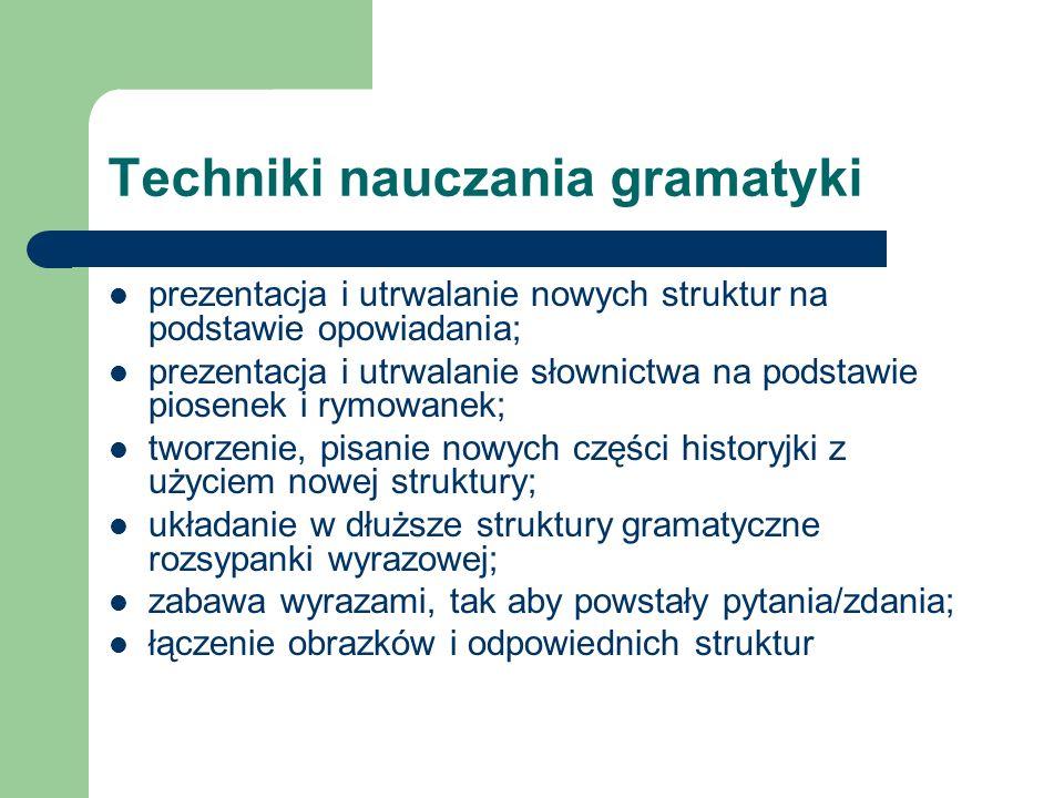 Techniki nauczania gramatyki