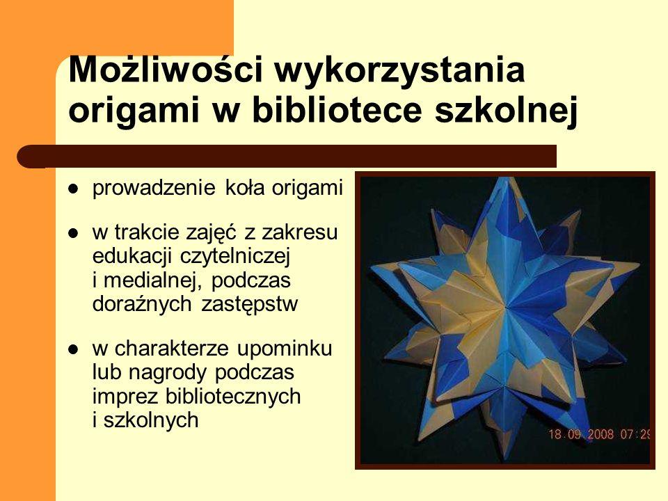 Możliwości wykorzystania origami w bibliotece szkolnej
