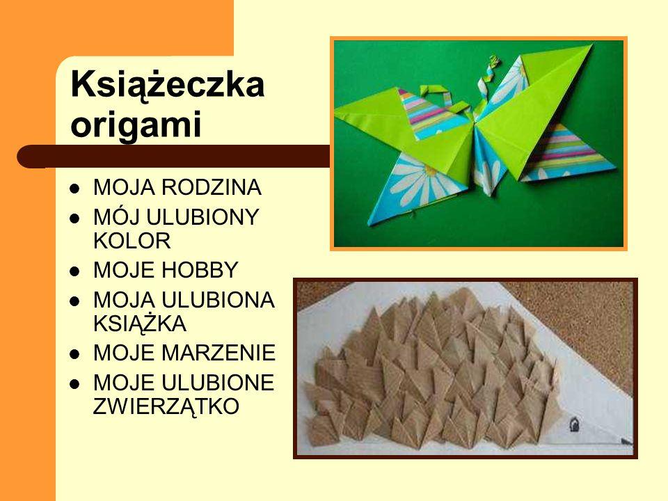 Książeczka origami MOJA RODZINA MÓJ ULUBIONY KOLOR MOJE HOBBY