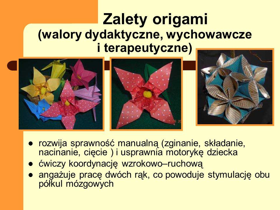 Zalety origami (walory dydaktyczne, wychowawcze i terapeutyczne)