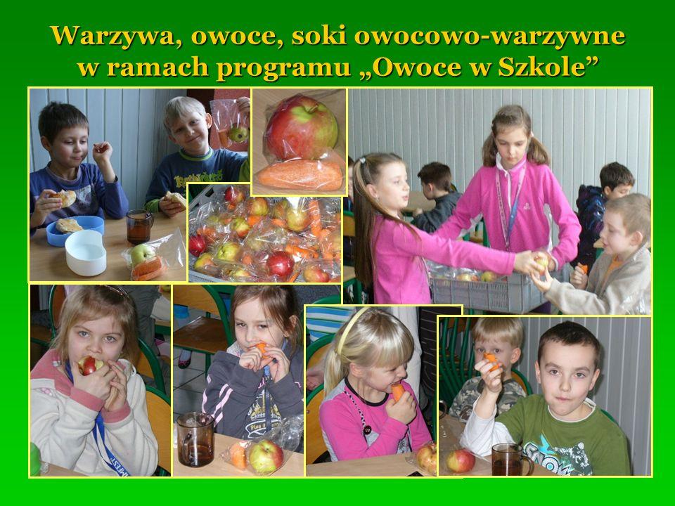 """Warzywa, owoce, soki owocowo-warzywne w ramach programu """"Owoce w Szkole"""