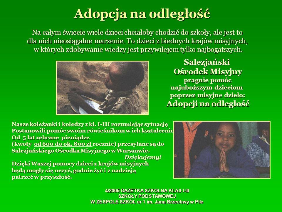 Adopcja na odległość Salezjański Ośrodek Misyjny Adopcji na odległość