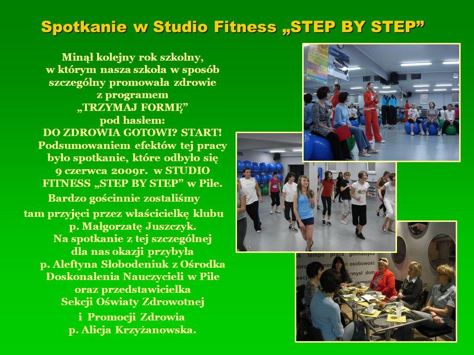 """Spotkanie w Studio Fitness """"STEP BY STEP"""