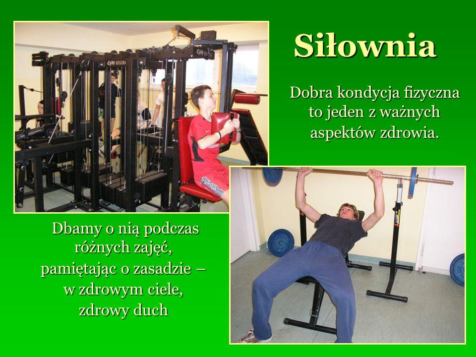 Siłownia Dobra kondycja fizyczna to jeden z ważnych aspektów zdrowia.