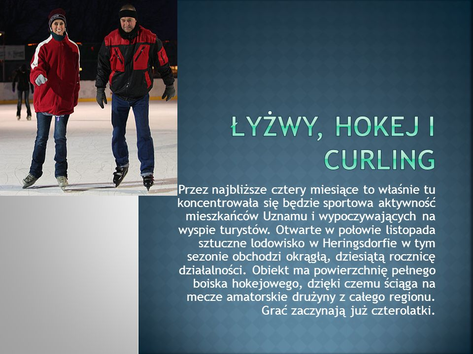 Łyżwy, hokej i curling