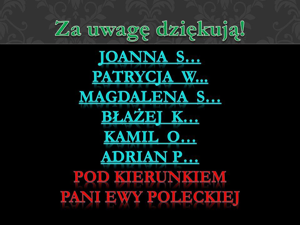 Joanna S… Patrycja W... Magdalena S… Błażej K… Kamil o… Adrian P…