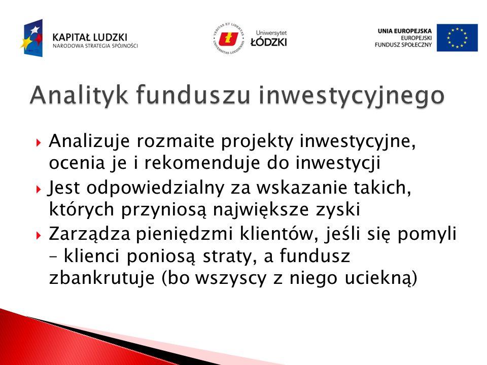 Analityk funduszu inwestycyjnego