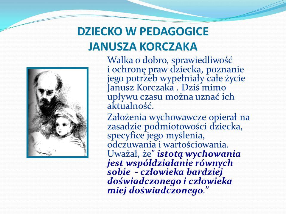 DZIECKO W PEDAGOGICE JANUSZA KORCZAKA