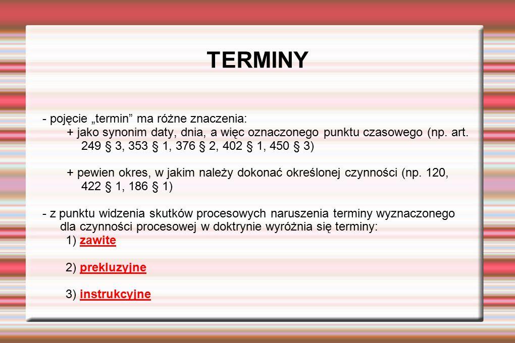 """TERMINY - pojęcie """"termin ma różne znaczenia:"""