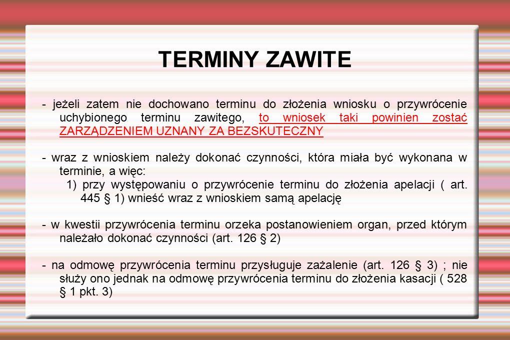 TERMINY ZAWITE