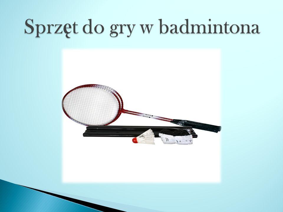 Sprzęt do gry w badmintona