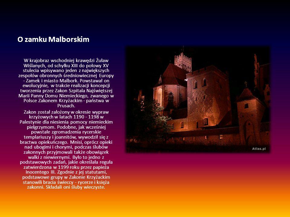 O zamku Malborskim