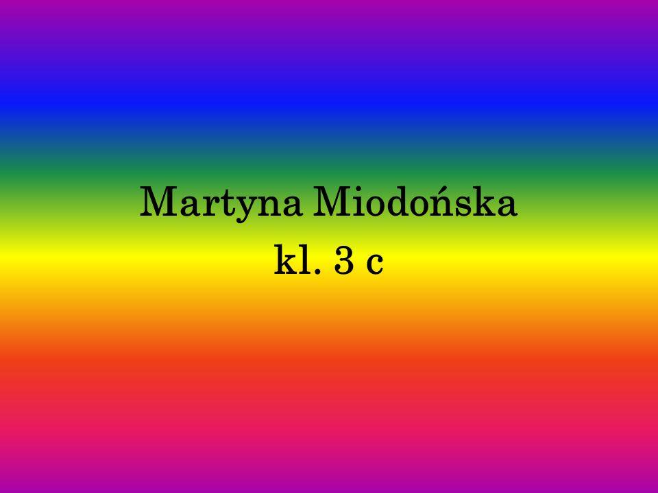 Martyna Miodońska kl. 3 c