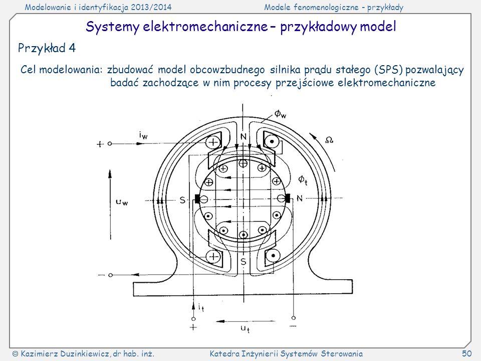 Systemy elektromechaniczne – przykładowy model