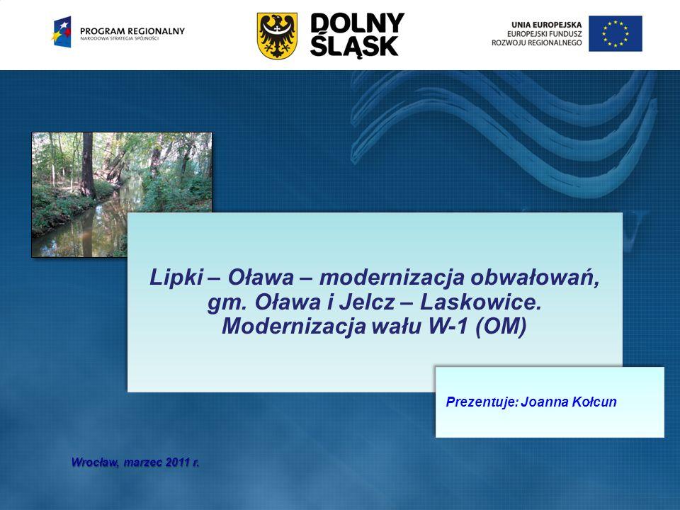 Lipki – Oława – modernizacja obwałowań, gm. Oława i Jelcz – Laskowice