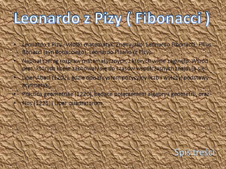 Leonardo z Pizy ( Fibonacci )