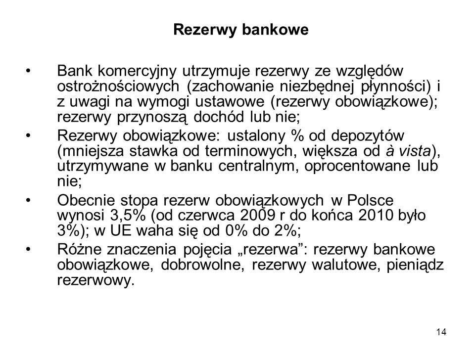 Rezerwy bankowe