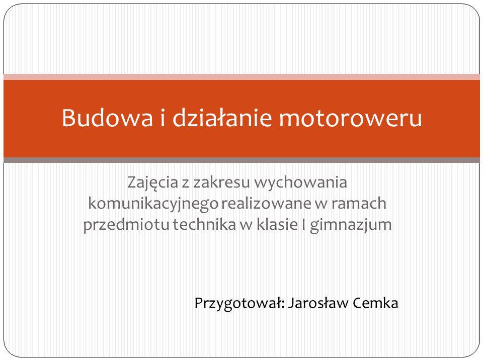 Budowa i działanie motoroweru