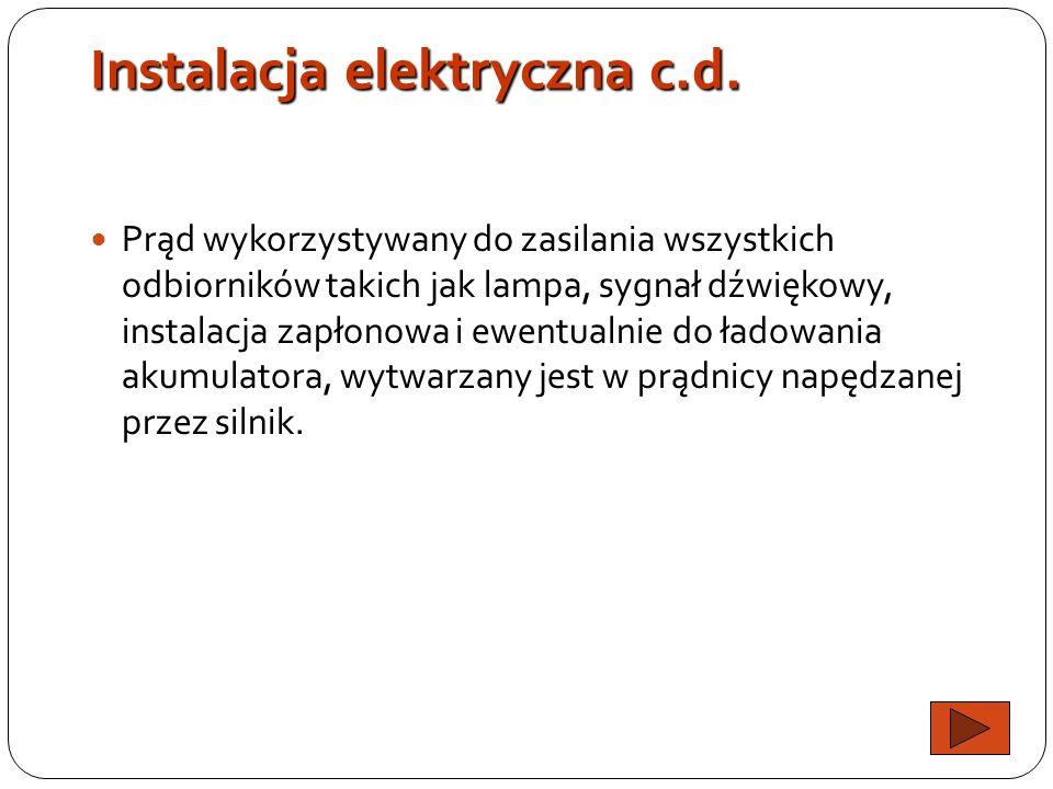 Instalacja elektryczna c.d.