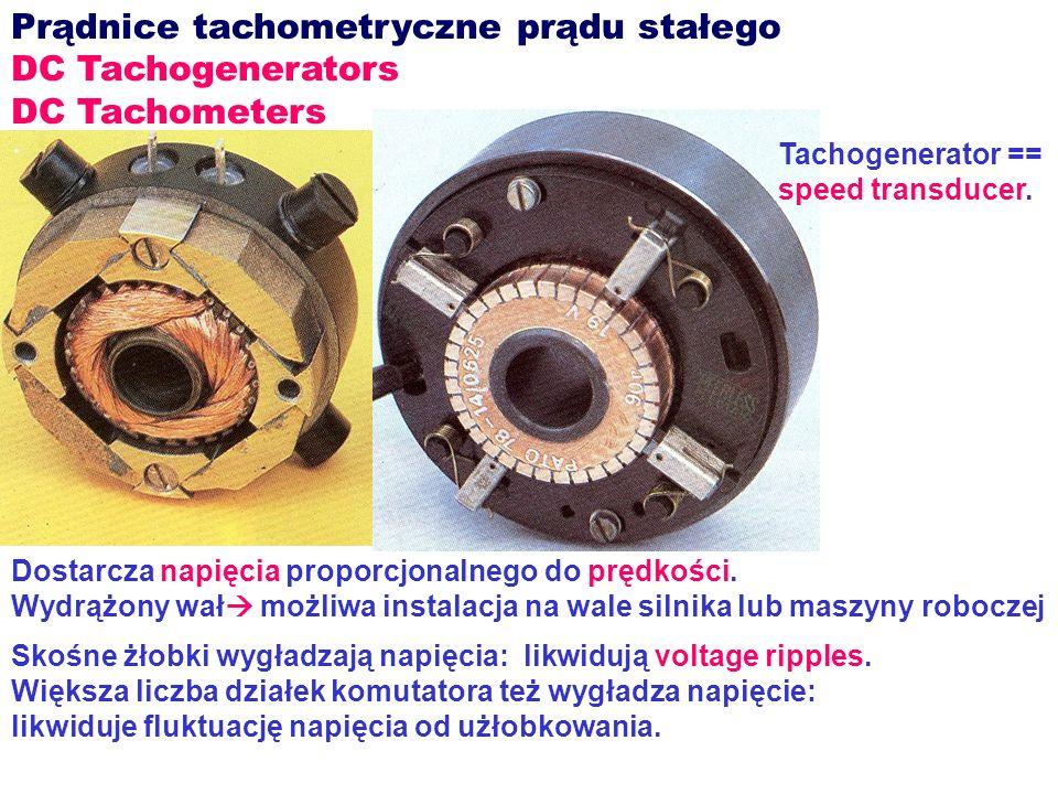 Prądnice tachometryczne prądu stałego DC Tachogenerators
