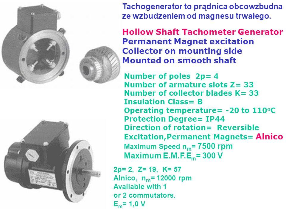 Tachogenerator to prądnica obcowzbudna