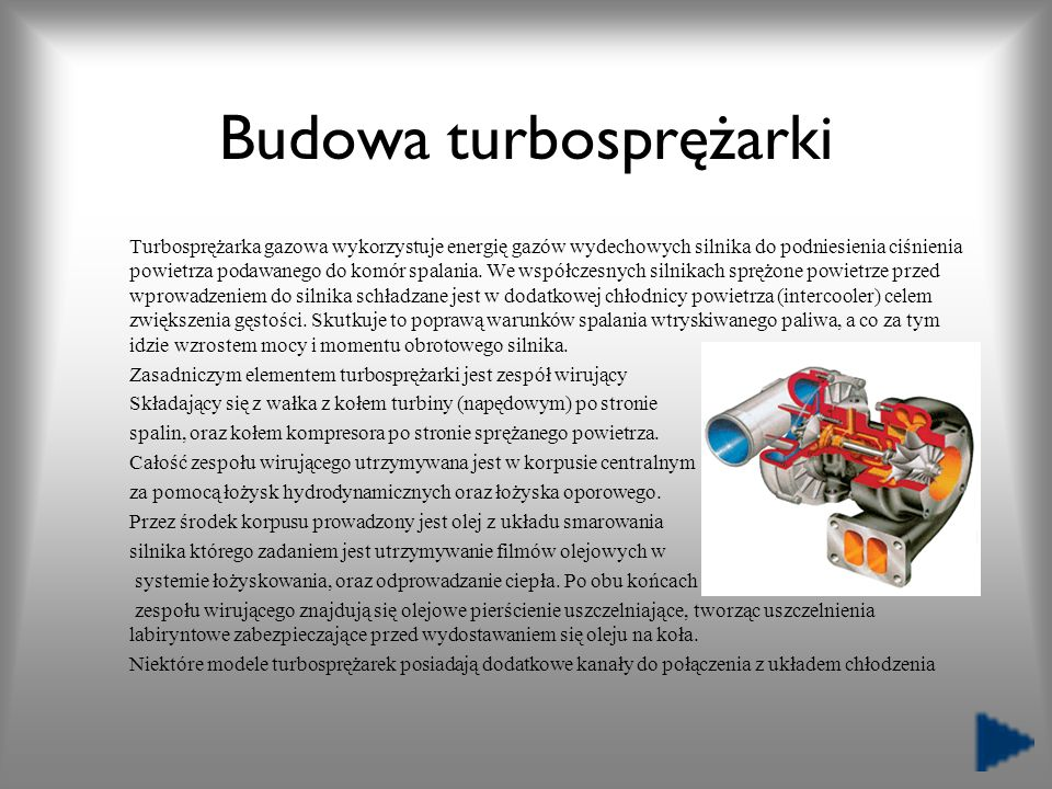 Budowa turbosprężarki