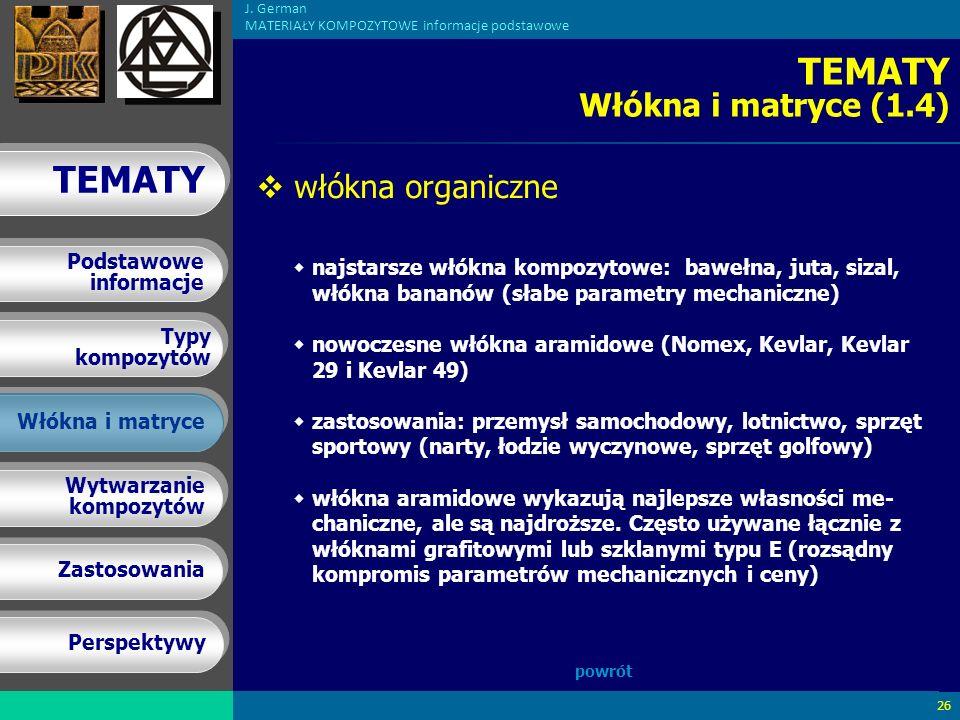 TEMATY Włókna i matryce (1.4)
