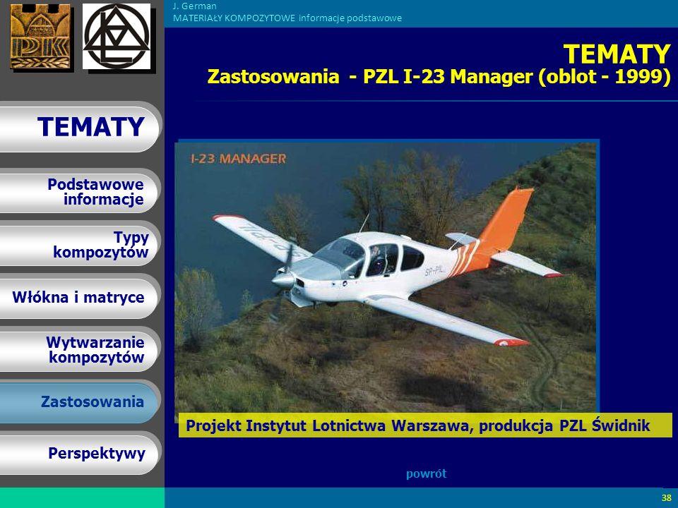 TEMATY Zastosowania - PZL I-23 Manager (oblot - 1999)