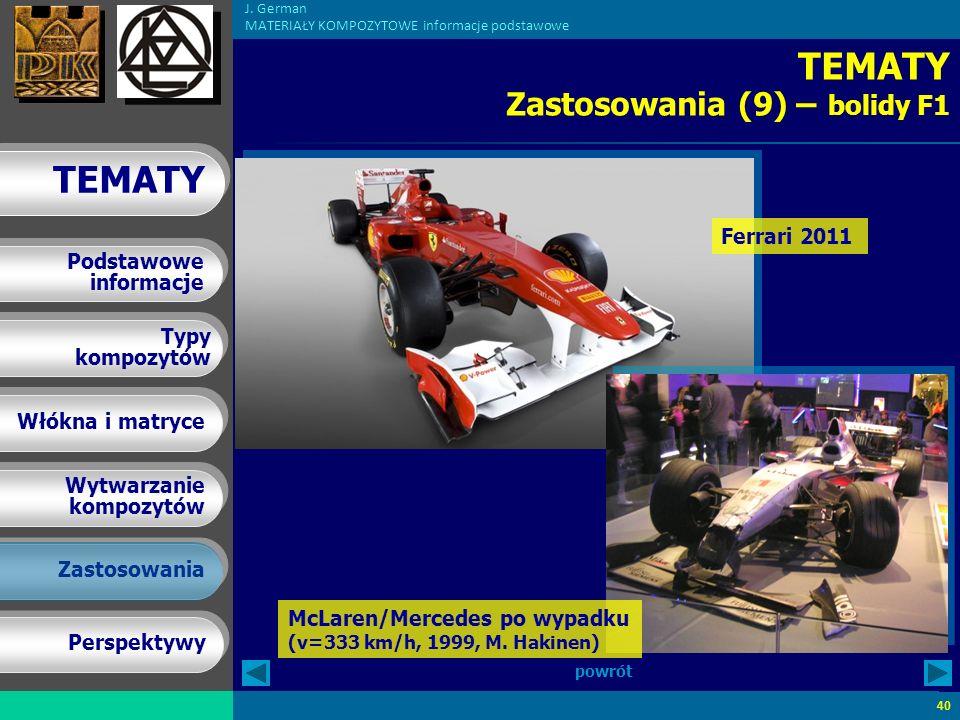 TEMATY Zastosowania (9) – bolidy F1