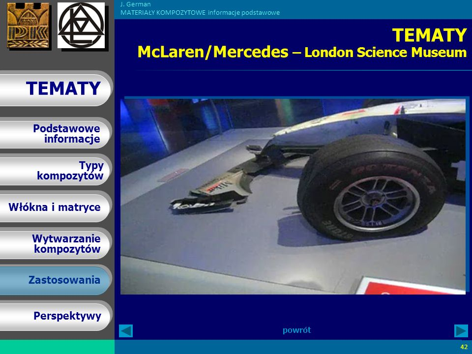 TEMATY McLaren/Mercedes – London Science Museum