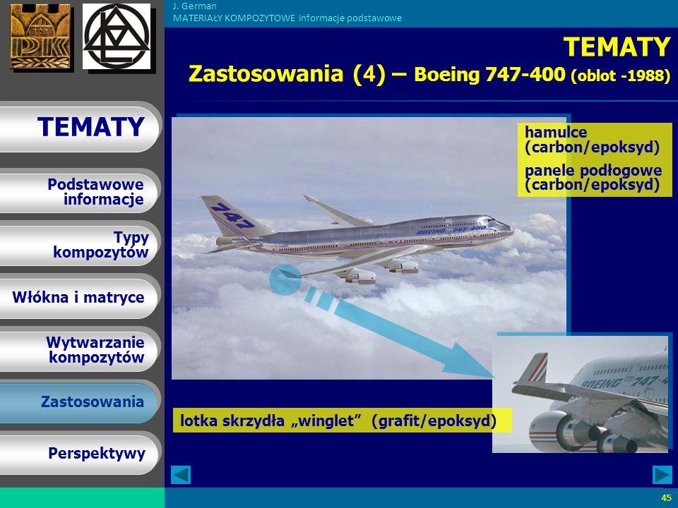 TEMATY Zastosowania (4) – Boeing 747-400 (oblot -1988)