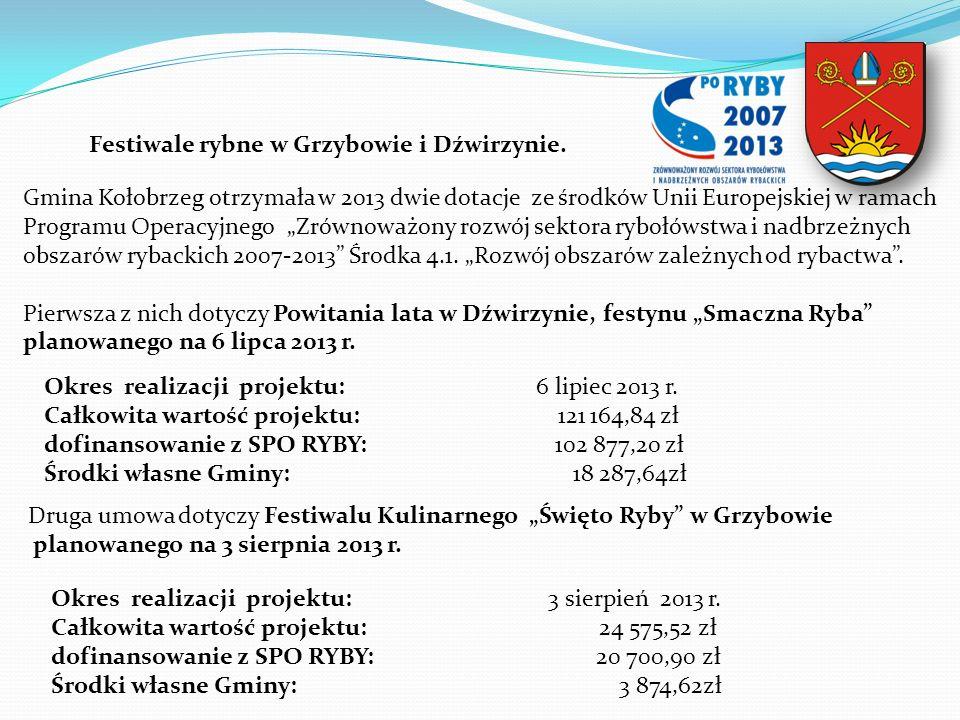 Festiwale rybne w Grzybowie i Dźwirzynie.