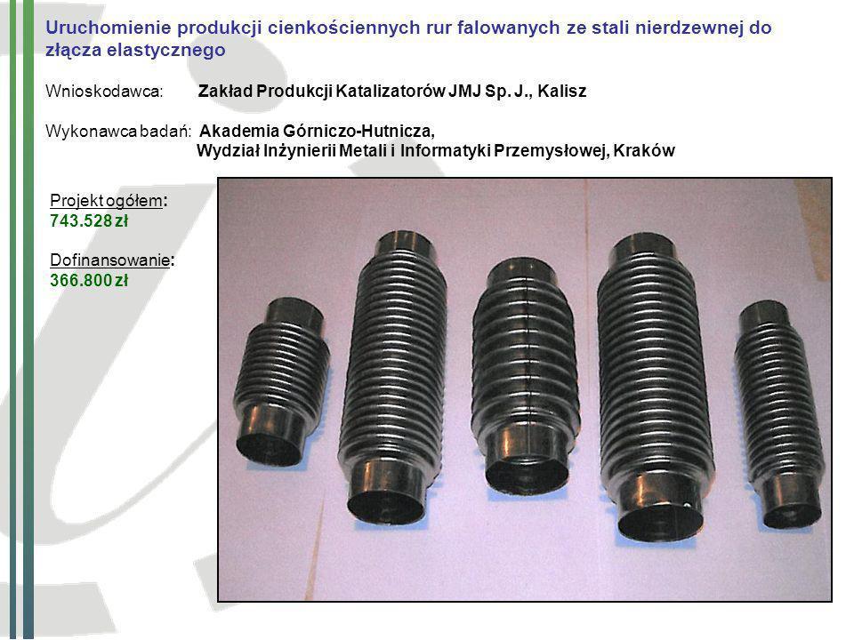 Uruchomienie produkcji cienkościennych rur falowanych ze stali nierdzewnej do złącza elastycznego