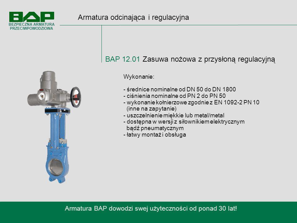 Armatura BAP dowodzi swej użyteczności od ponad 30 lat!