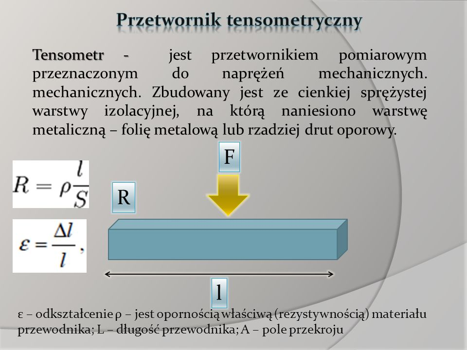 Przetwornik tensometryczny