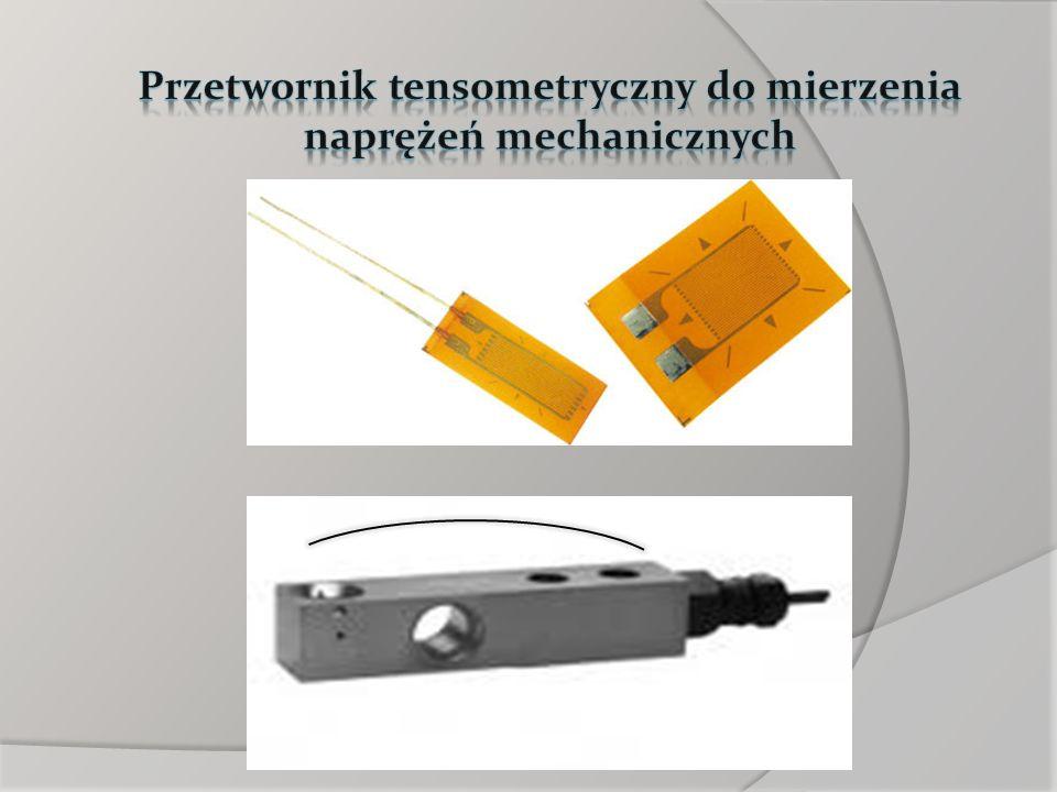 Przetwornik tensometryczny do mierzenia naprężeń mechanicznych