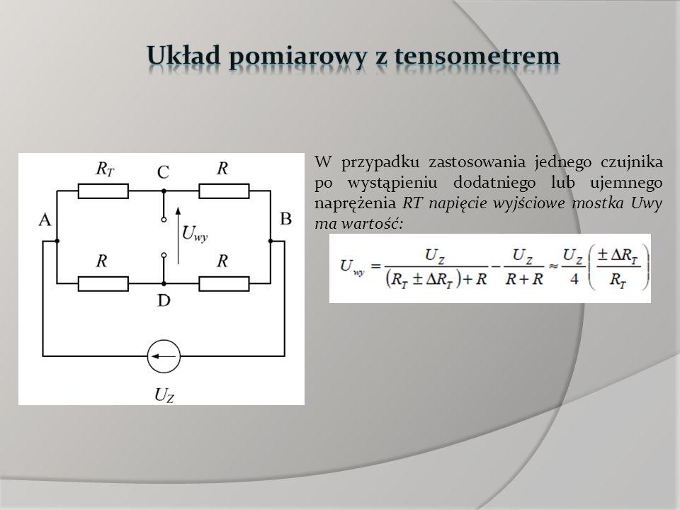 Układ pomiarowy z tensometrem