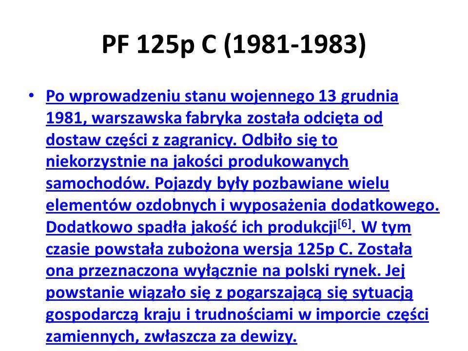 PF 125p C (1981-1983)