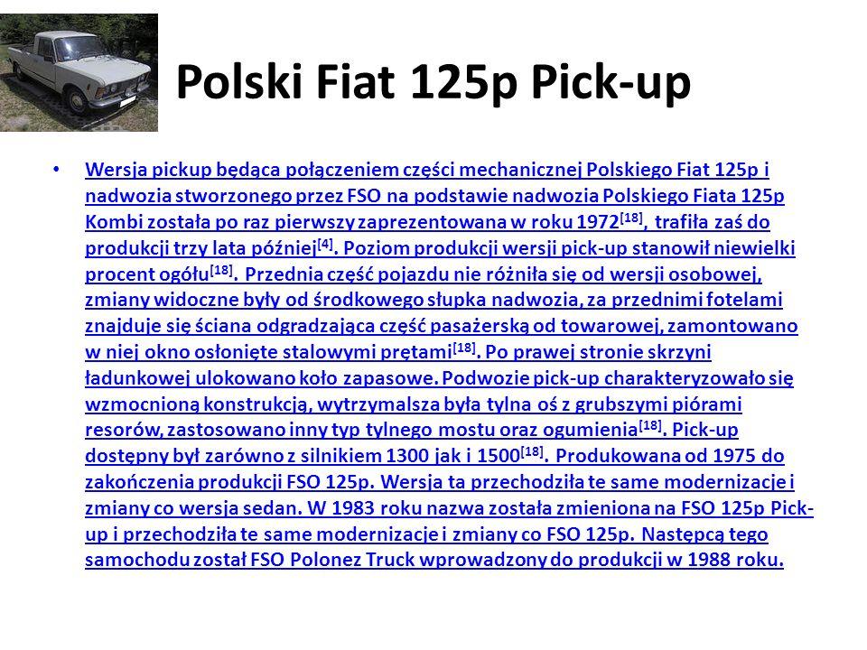 Polski Fiat 125p Pick-up