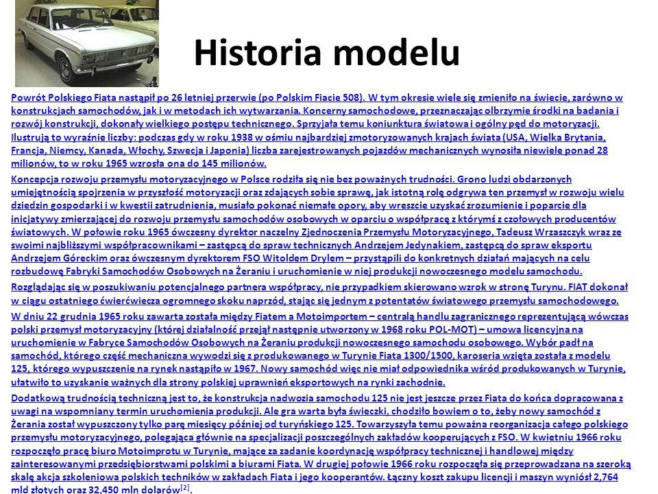 Historia modelu