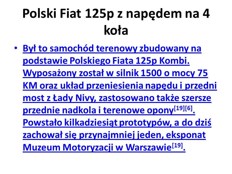 Polski Fiat 125p z napędem na 4 koła