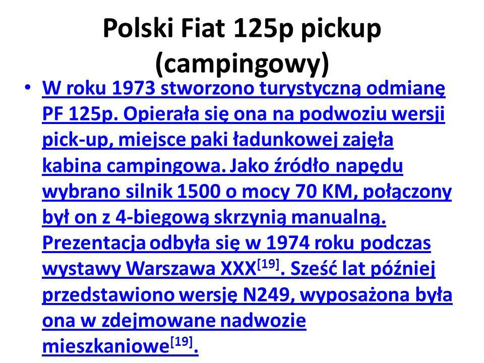 Polski Fiat 125p pickup (campingowy)