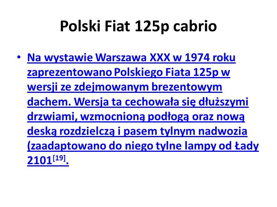 Polski Fiat 125p cabrio
