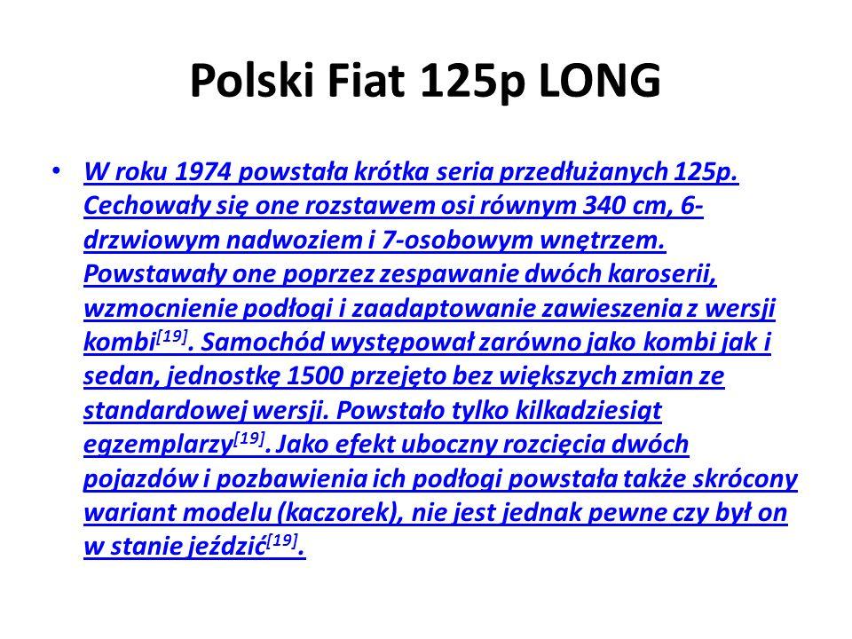 Polski Fiat 125p LONG