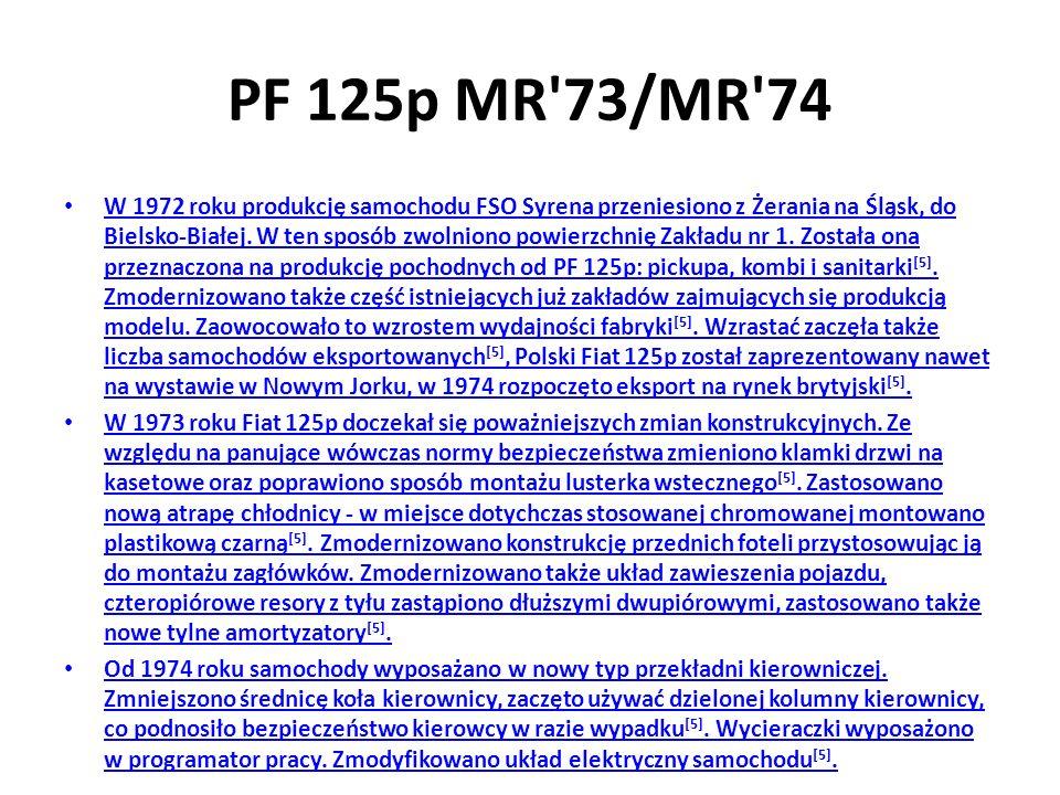 PF 125p MR 73/MR 74