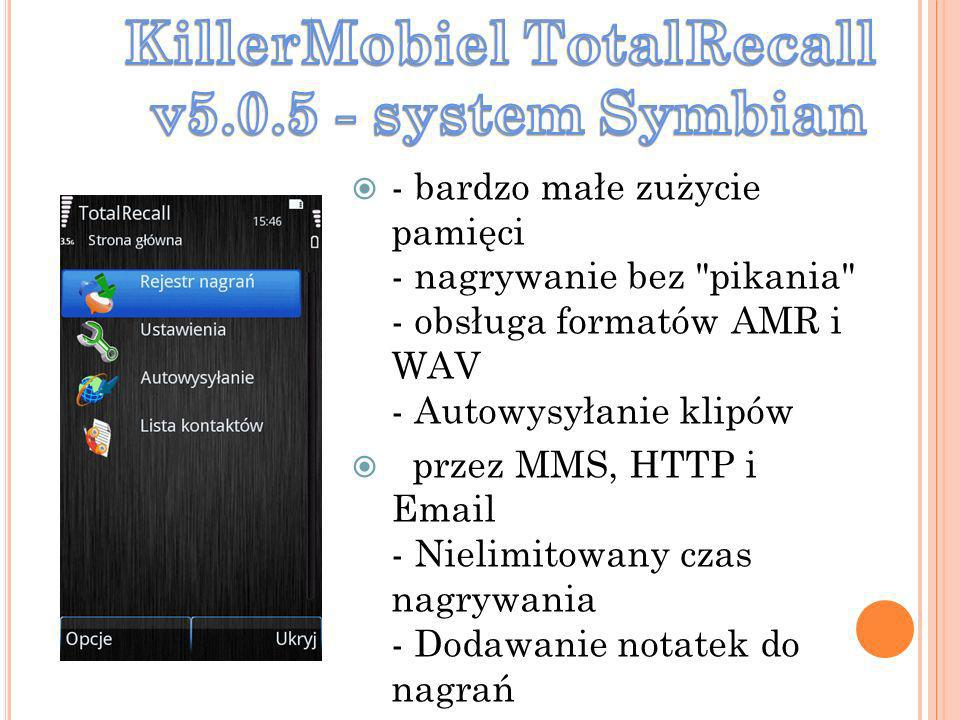 KillerMobiel TotalRecall