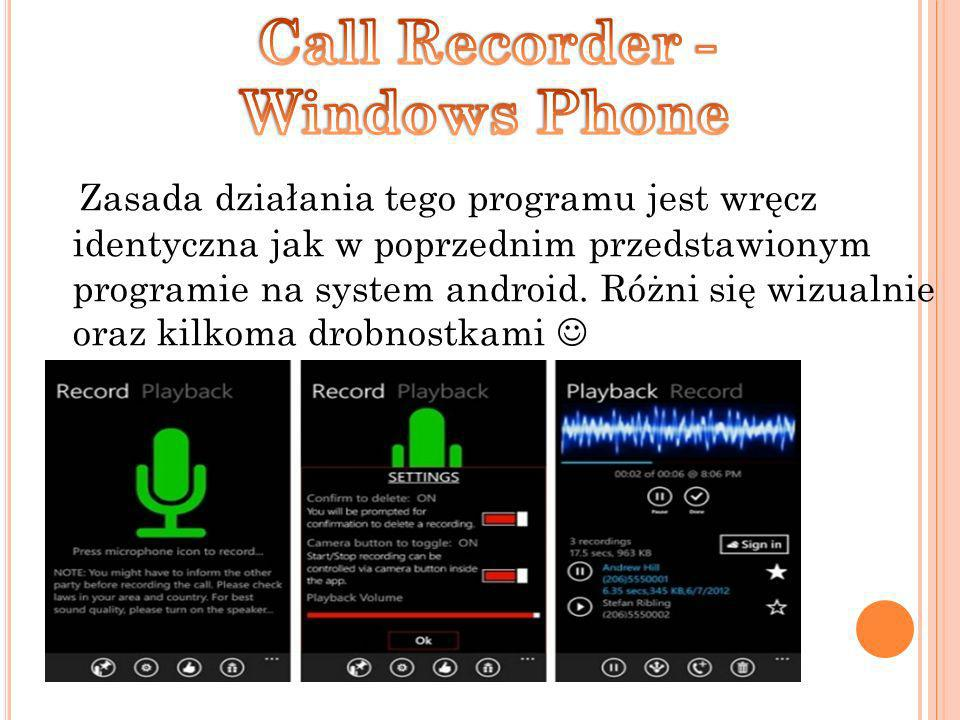 Call Recorder - Windows Phone