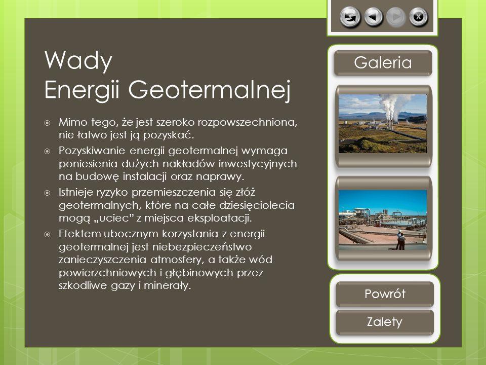 Wady Energii Geotermalnej