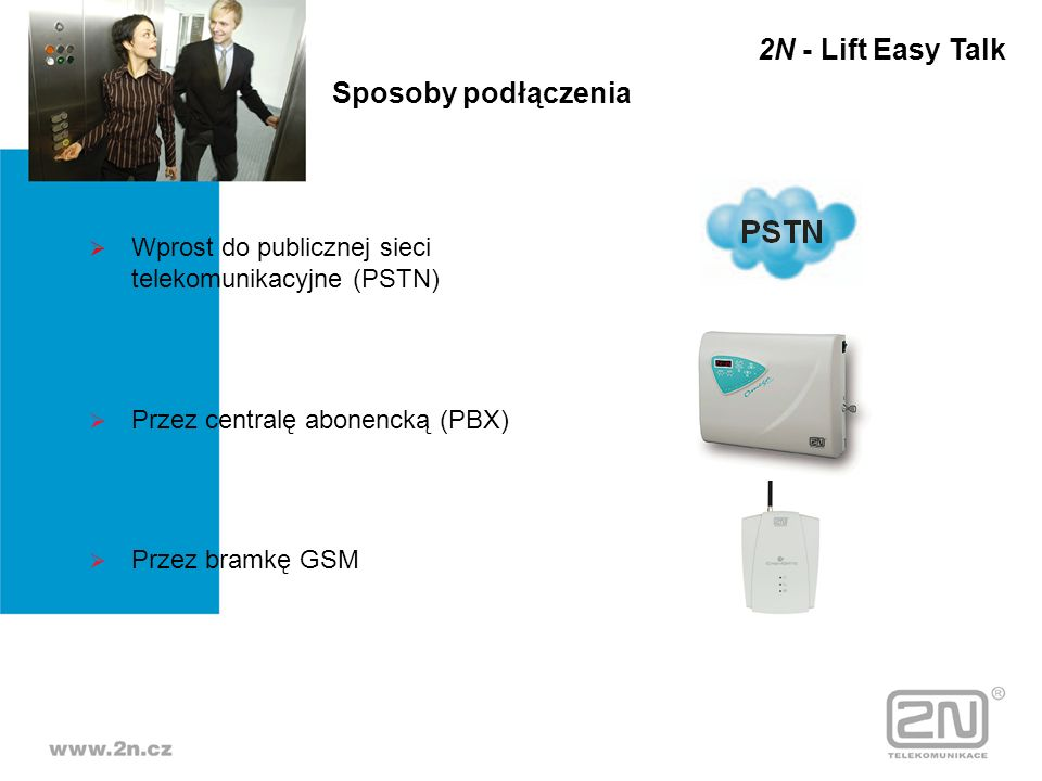 2N - Lift Easy Talk Sposoby podłączenia