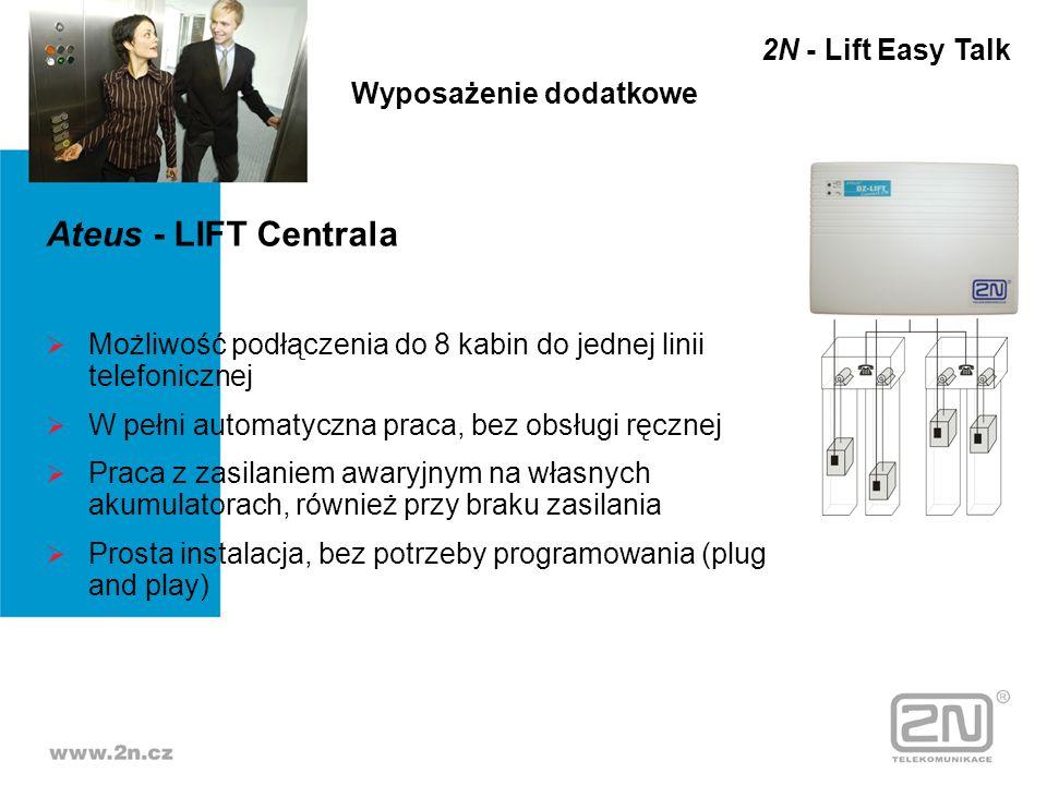 Ateus - LIFT Centrala 2N - Lift Easy Talk Wyposażenie dodatkowe